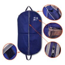 Personalizado Fancy Cheap Travel plegable acolchado con bolsillo No Mínimo Custom Garment Bags Wholesale