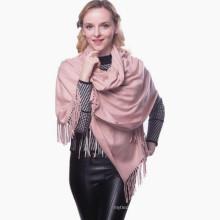 Oversized skiny luxo whosale plain sólido 100% pure color pashmina xale em delhi vietnã pashmina lenço distribuidores