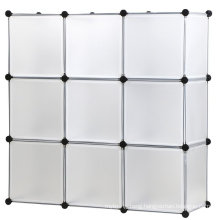 DIY Storage Cube Organizer Plastic Closet Shelf 6 Cube Bookcase Cabinet Black