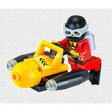 Aqua Series Designer Diver Seabed Prospector 25PCS Blocks Toys