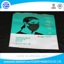 Bolsa de plástico laminado para embalaje Máscara desechable de atención médica