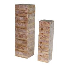 Natürliche Birke Holz 54 PCS Heiße Verkaufsförderung hölzernes Jenga klassisches Spiel