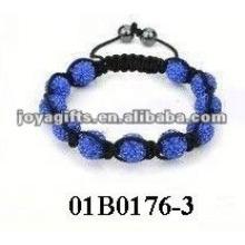 Fashion multi color shamballa bead bracelets