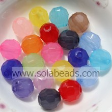 Supply 10MM Plastic Round Bubble Imitation Swarovski Beads