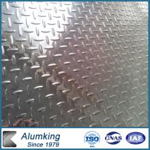 Plaque en aluminium à cinq barres pour plancher antidérapant