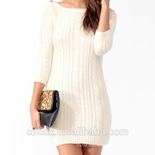 16STC5101 cable knit cashmere girl dress