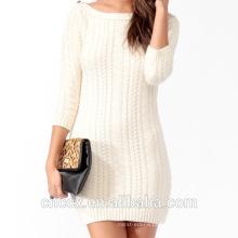 16STC5101 cabo de cashmere vestido de menina