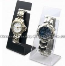 Eenvoudig schuin handige heldere acryl horloge Display plat