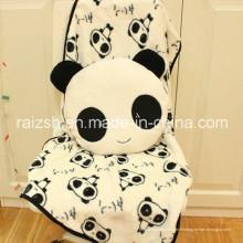 Couverture à double usage mignon Panda oreiller avec cadeau de jouet en peluche