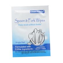Single Pad Spoon & Fork Wet Wipes