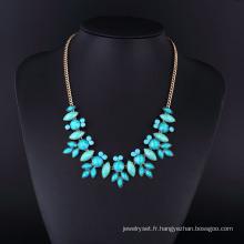 Collier en pierre Turquoise plaqué or pour femme