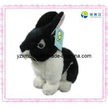 Сладкая плюшевая игрушка черного кролика игрушка