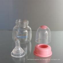2oz 60ml PP alimentador de bebé y botella de vidrio de bebé
