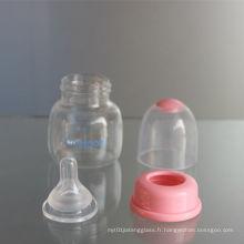 2oz 60ml PP Alimentateur bébé et bouteille en verre
