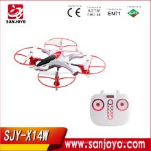 Syma Drone X14W, 2.4G 6 ejes Gyro 720P HD wifi cámara en tiempo real FPV Wifi control remoto Quadcopter con modo sin cabeza y 360-deg