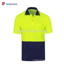 Hola camiseta de polo de manga larga / corta tradicional de Vis, ropa de trabajo de seguridad transpirable
