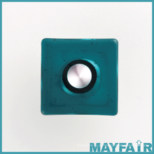 Botão de vidro do armário do quarto quadrado barato