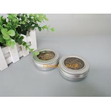 60g Silber Metall Aluminium Kanister für Tee Verpackung (PPC-ATC-60)
