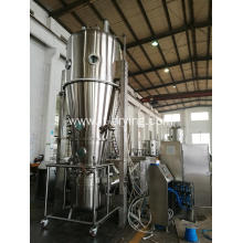 Fluid bed bottom spray coating/coater