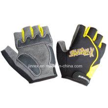 Hot-Seller-Turnhalle Fahrrad-halber Finger-Radfahren-Padding-Fahrrad-Sport-Handschuh