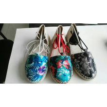 New Style Floral Pattern Cloth Shoes Canvas Shoes for Women (NU024)