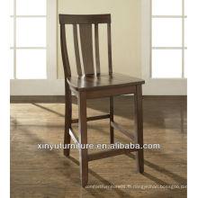 Chaise haute en bois haute tabouret de bar XYH1008