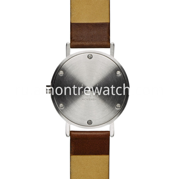 stainless steel case back