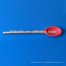 Cuillère à servir en silicone avec poignée en acier inoxydable