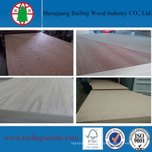 Folheado de madeira natural cores MDF para móveis de alta qualidade