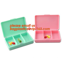 pill case with date letters,Hot Sale medicine box,Plastic 7 Days Pill Box, Cute Round Plastic Weekly 7 Days Pill Box