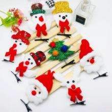 Decoração de natal hairpin headband fivela crianças adultas