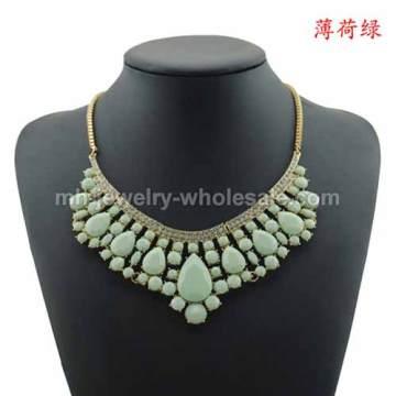 Petit carré or plaqué chaîne élégante populaire allié Chain Necklace