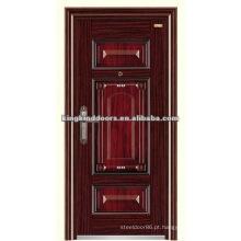 Luxo de aço da segurança porta KKD-520 com boa tinta da China Top 10 marca portas