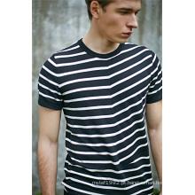 2016new moda algodão viscose listrado homens camisola