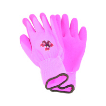 13G Nylon /Polyster Printing Liner Glove with Latex Coated