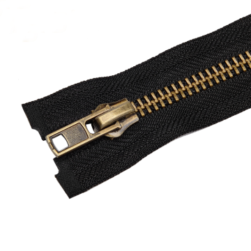 Hot selling High Strength Antique Brass Zipper