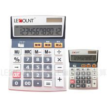 Calculadora de imposto de tamanho médio de 12 dígitos com função de imposto En / Jp opcional (LC205T)