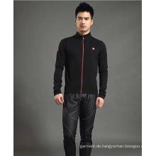 Kundenspezifische Sublimation Elastische Langarm-Radsportbekleidung für Männer
