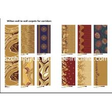 Machine Woven Wall to Wall Wilton Corridor Carpets