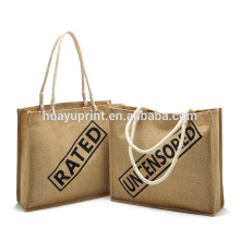 jute bag with zipper