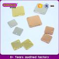 Kundenspezifische Qualität 18k Gold Zink-Legierung Halskette Logo-Tags Halskette