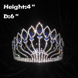 Coronas de reina de concurso completo de 4 pulgadas con diamante