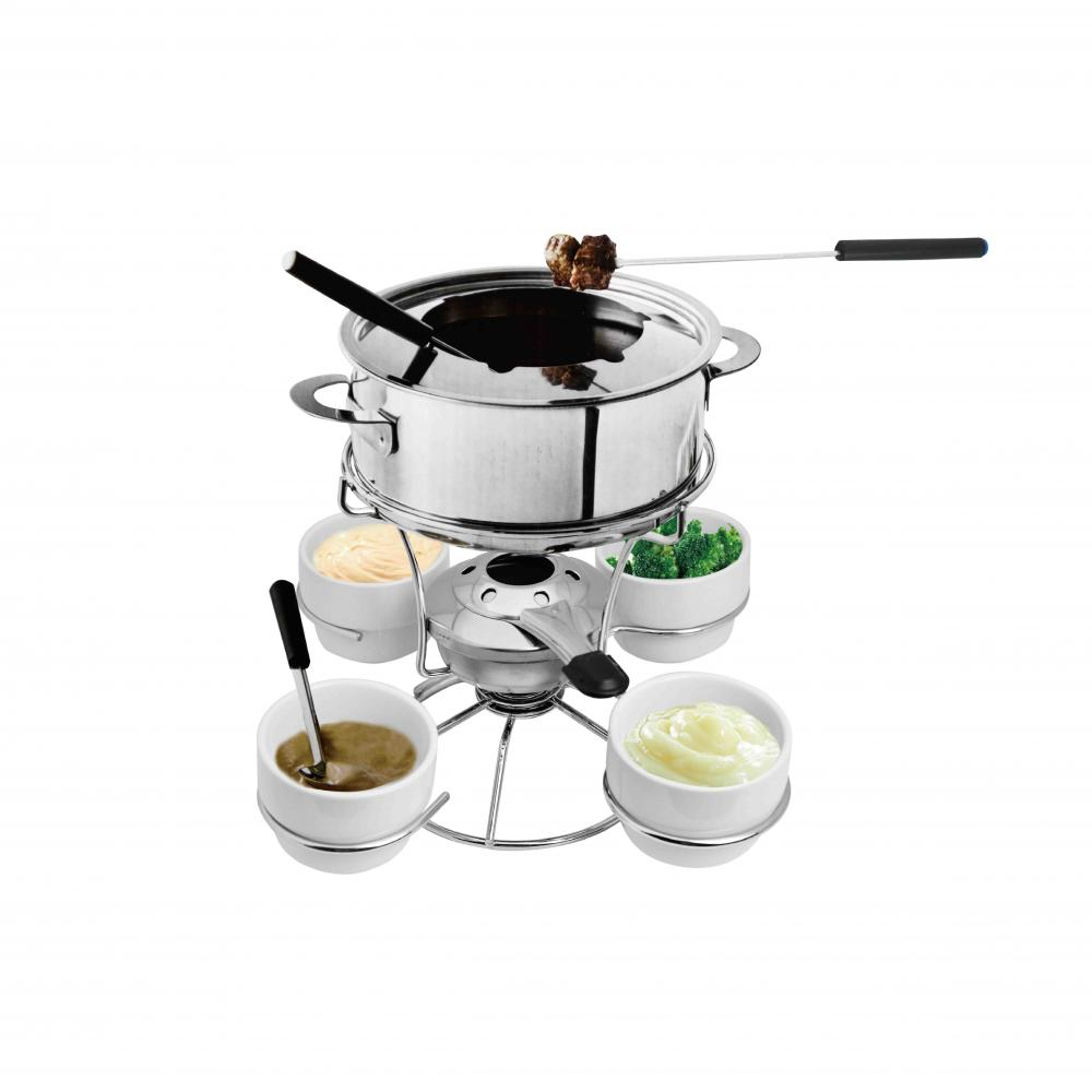 chocolate and cheese fondue set