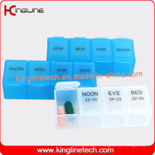 Plastic Pill Box with 4-Cases Supplier (KL-9004)