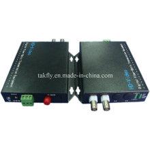 Alta calidad 2 CH 1080P Resolución Ahd & Cvi & Tvi Video Fiber Transmission