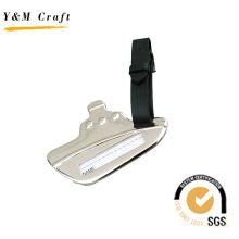 Étiquette à bagage Matel et PU, étiquette de bagage en forme de bateau (X04033)