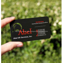 Metal Personalized Quality Scrub Plated Black Business Card