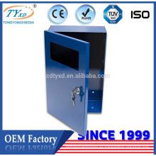 Caja de metal de hoja de suministro de fábrica ISO