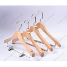 Durable wood suits clothes hanger with locking bar