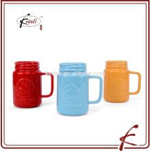 Tasse de pot de maçonnerie en céramique